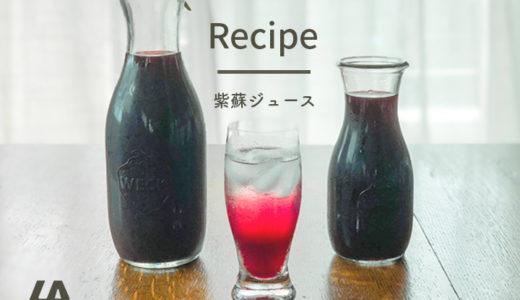 酸っぱさ控えめ紫蘇ジュースオリジナルレシピ